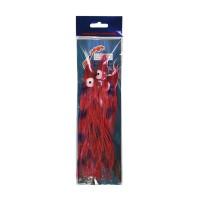 Octopus rood-zilver 20cm (3 st.))