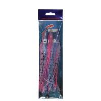 Octopus roze-blauw-zilver 20cm (3 st.)