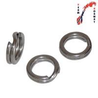 Flat stainless steel split rings